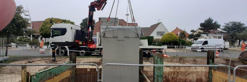 Pose de containers enterrés au Touquet