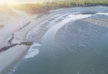 Survol du chantier de la Baie d'Authie (vidéo)